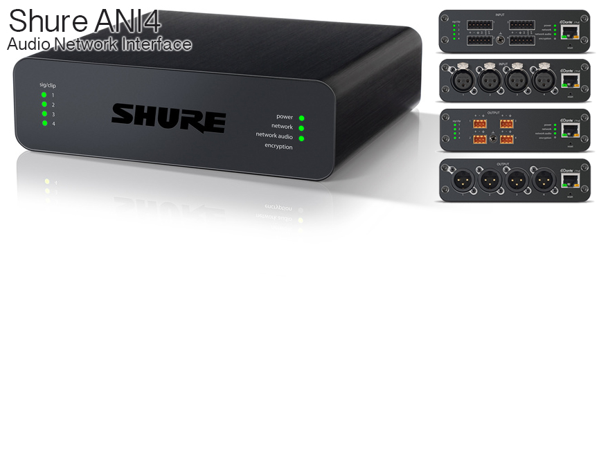 Shure Audio Network Interface ANI4 Product
